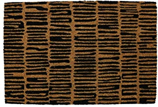 PRIDE OF PLACE Astley Rectangle Doormat | Blocks Design | Non-Slip PVC Backing | Heavy Duty Coir | Ideal for Indoor or She...