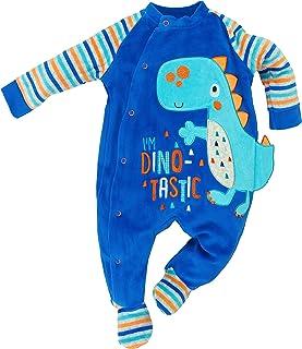58940ebcb8 Lily & Jack - Baby Jungen Strampler Schlafanzug aus Nicki Dino