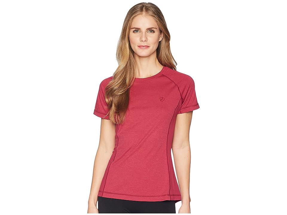 Fjallraven Abisko Vent T-Shirt (Plum) Women