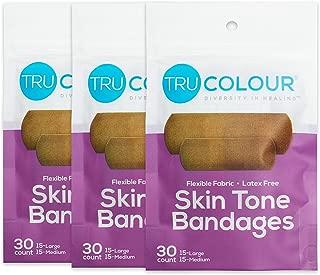 Tru-Colour Bandages Skin Tone Flexible Fabric Bandages (Purple Bag)