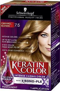 Schwarzkopf Keratin Color Anti-Age Hair Color Cream, 7.5 Caramel Blonde (Packaging May Vary)