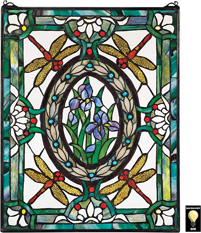 Stained Glass Sunrise Stained glass sunset suspend.it Nail Cover Colorful Wall Hook