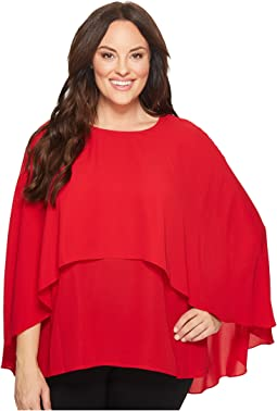 Vince Camuto Specialty Size - Plus Size Cape Overlay Blouse