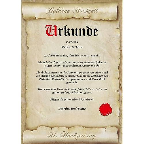Goldene Hochzeit Karte Amazonde