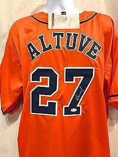 Jose Altuve Houston Astros Signed Autograph Orange Custom Jersey JSA Certified