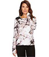 Ivanka Trump - Knit Printed Shoulder Colorblock Top