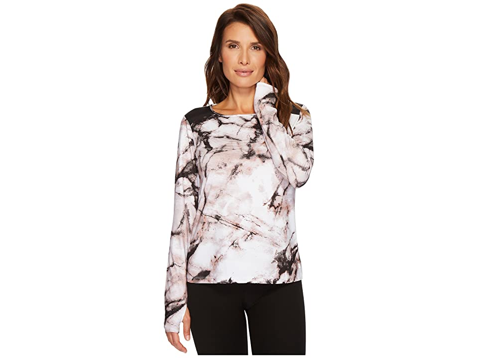 Ivanka Trump Knit Printed Shoulder Colorblock Top (Ivory/Black/Multi) Women