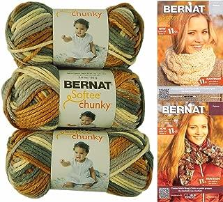 Bernat Softee Chunky Yarn Bundle Super Bulky #6, 3 Skeins Stillness 29117