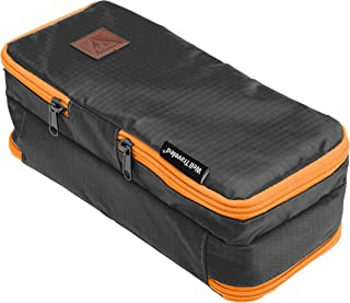 Well Traveled Travel Toiletry Bag – for Makeup, Cosmetics, Shaving Kit, Hand Sanitizer, Disinfectant, Soap - Multicolor Organizer for Men, Women - Compact, 3 Compartments, Soft-Sided, 10x4.5x4 Inch