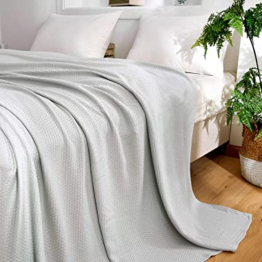 DANGTOP Cooling Blankets, Queen Size 100% Bamboo Blanket for All-Season, Cooling Blanket Absorbs Body Heat to Keep Cool on Wa