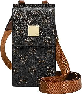 Bolso de Teléfono móvil para Mujer Bolso de Hombro de Cuero Crossbody Bag Correa Ajustable Pequeño Bolso Bandolera con Ran...