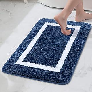 Bathroom Rugs and Mats, Microfiber Bath Shower Mat, Machine Wash Dry, Non Slip Absorbent Shaggy Bath Rug for Bathroom, Liv...