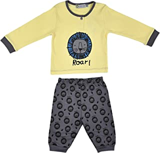 ALM Kids Baby Rompers two piece Variations White and Green Combination & Yellow and Blue Blue Combination for Baby Boy Bab...