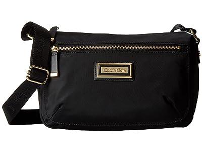 Calvin Klein Belfast Nylon Crossbody (Black/Gold) Cross Body Handbags