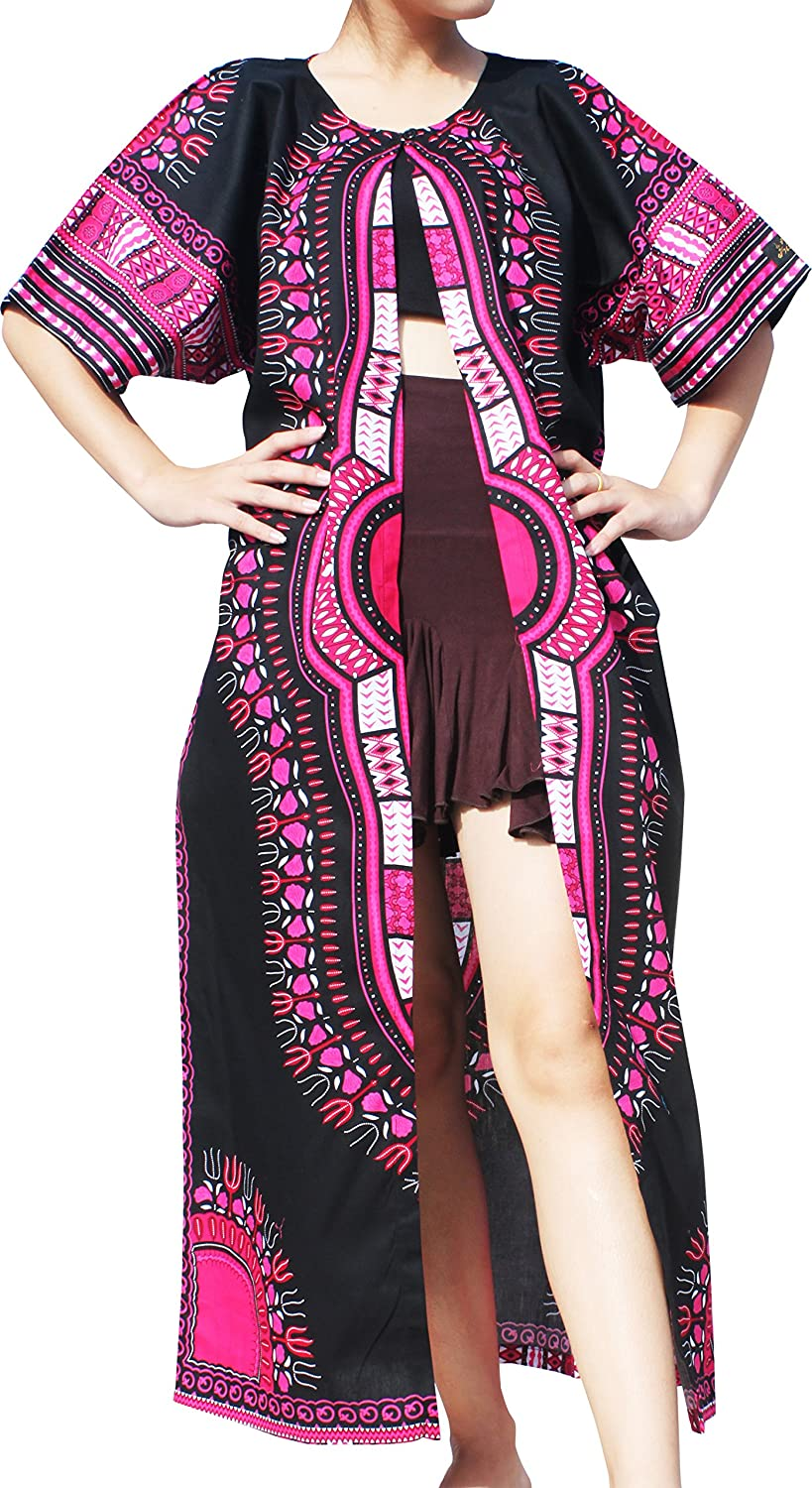 RaanPahMuang Houston Mall Casual Outer Cloak Part Bold D Dress Dashiki Ladies Large special price !!