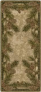 Brumlow Mills Pine Cone Gingham Kitchen Rug, 20-Inch by 44-Inch, Dark Green