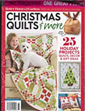 Better Homes & Gardens Christmas Quilts 2018 & More & Better Homes & Garden Christmas Ideas 2018 Magazines 2 Pack
