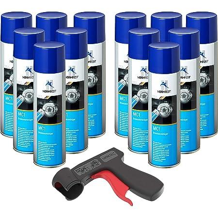 Nettoyant de Freins Multicleaner MC-1 Purificateur Intense transparent Spray 12x 500ml + 1x poignée originale pour bombes aérosols