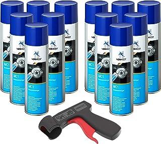 AUPROTEC Bremsenreiniger MC 1 Multicleaner Spray Intensiv Reiniger transparent 12x 500ml + 1x Original Pistolengriff