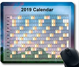2019 Calendar Mouse Pads,Mouse mat,Starry Sky Gaming Mouse pad