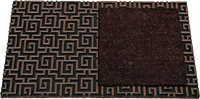 The FHE Group Europa Door Mat, 18 by 30-Inch, Matte Brown with Brown Patch