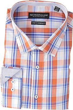 Yarn-Dye Plaid Stretch Shirt