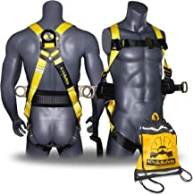 KwikSafety (Charlotte, NC Hurricane (with Premium Back Support) | 3D Ring Safety Harness OSHA ANSI Full Body Fall Protecti...