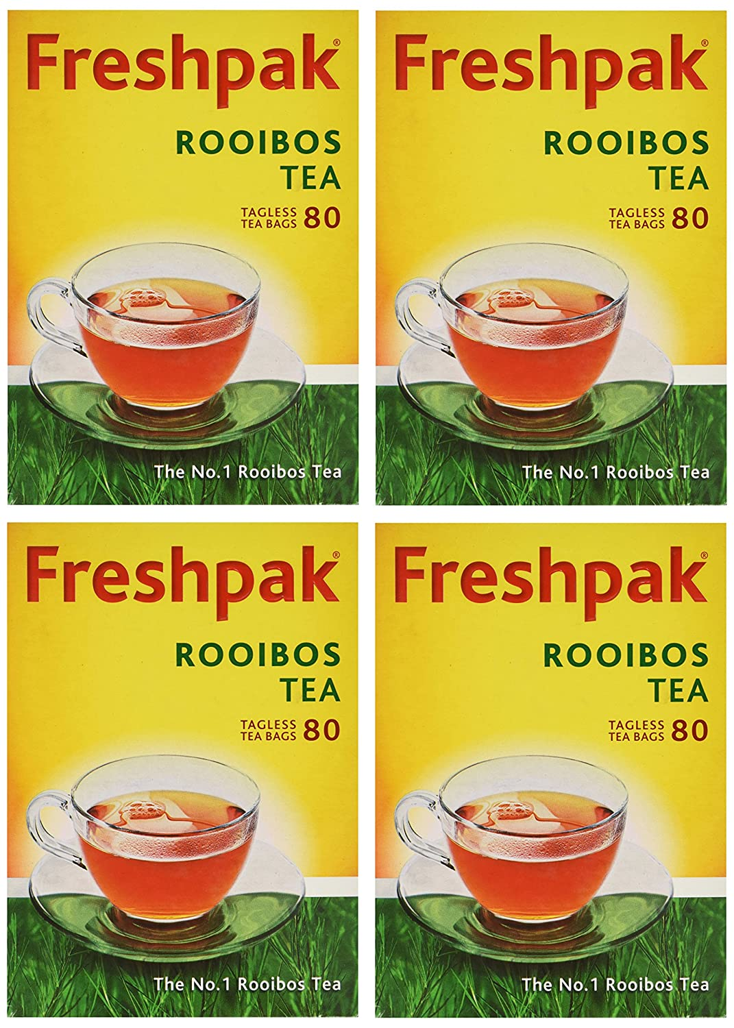 Freshpak Pure Low price Rooibos Tea 80 Pack 4 Tagless X Bags Max 73% OFF