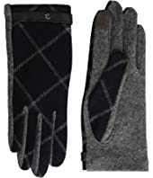 LAUREN Ralph Lauren Plaid RLL Monogram Touch Glove