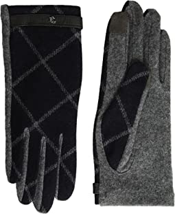 LAUREN Ralph Lauren - Plaid RLL Monogram Touch Glove