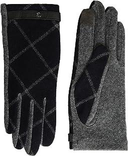 LAUREN Ralph Lauren - Plaid RLL Monogram Touch Glove