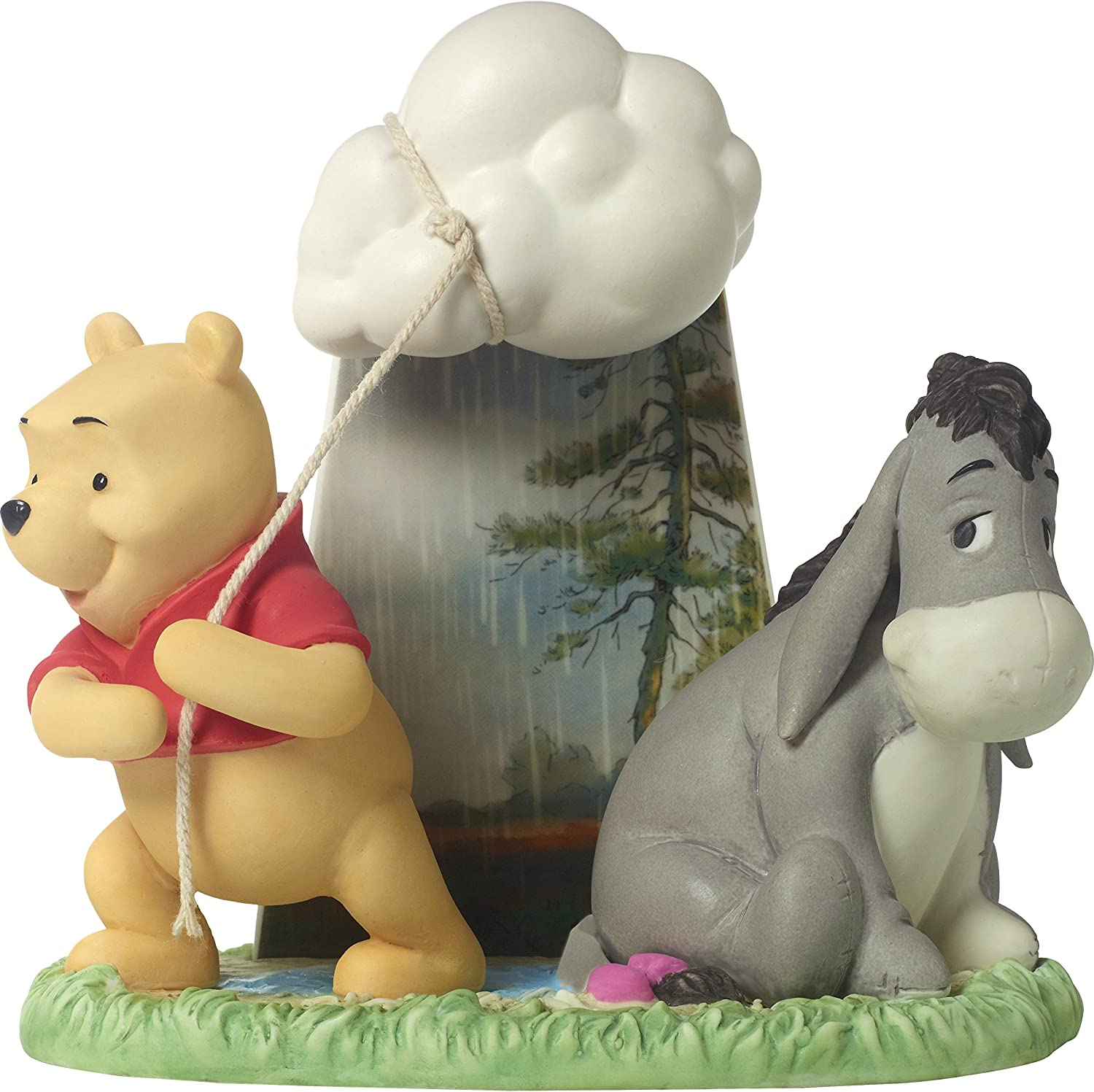 Precious Moments 172712 You Take My Coulds Away Bisque Porcelain Figurine Disney Showcase Winnie The Pooh & Eeyore, Multi