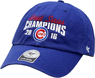 Chicago Cubs 2016 World Series Champions Hat Buckle Back Clean Up 13117