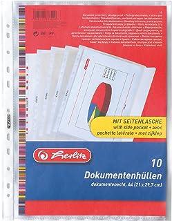 Herlitz 5896204 Documentenhoes A4 PP 10 stuks