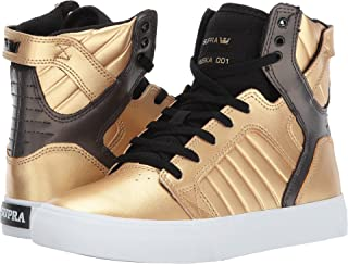 Supra Kids Boy's Skytop (Little Kid/Big Kid) Gold/Black/White Athletic Shoe