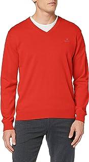 GANT Men's Classic Cotton V-Neck Sweater