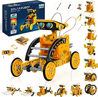 STEM 12 in 1 Education Solar Robot Toys, Solar and Cell Powered 2 in 1 DIY Building Learning Science Experiment Kit for Ki...