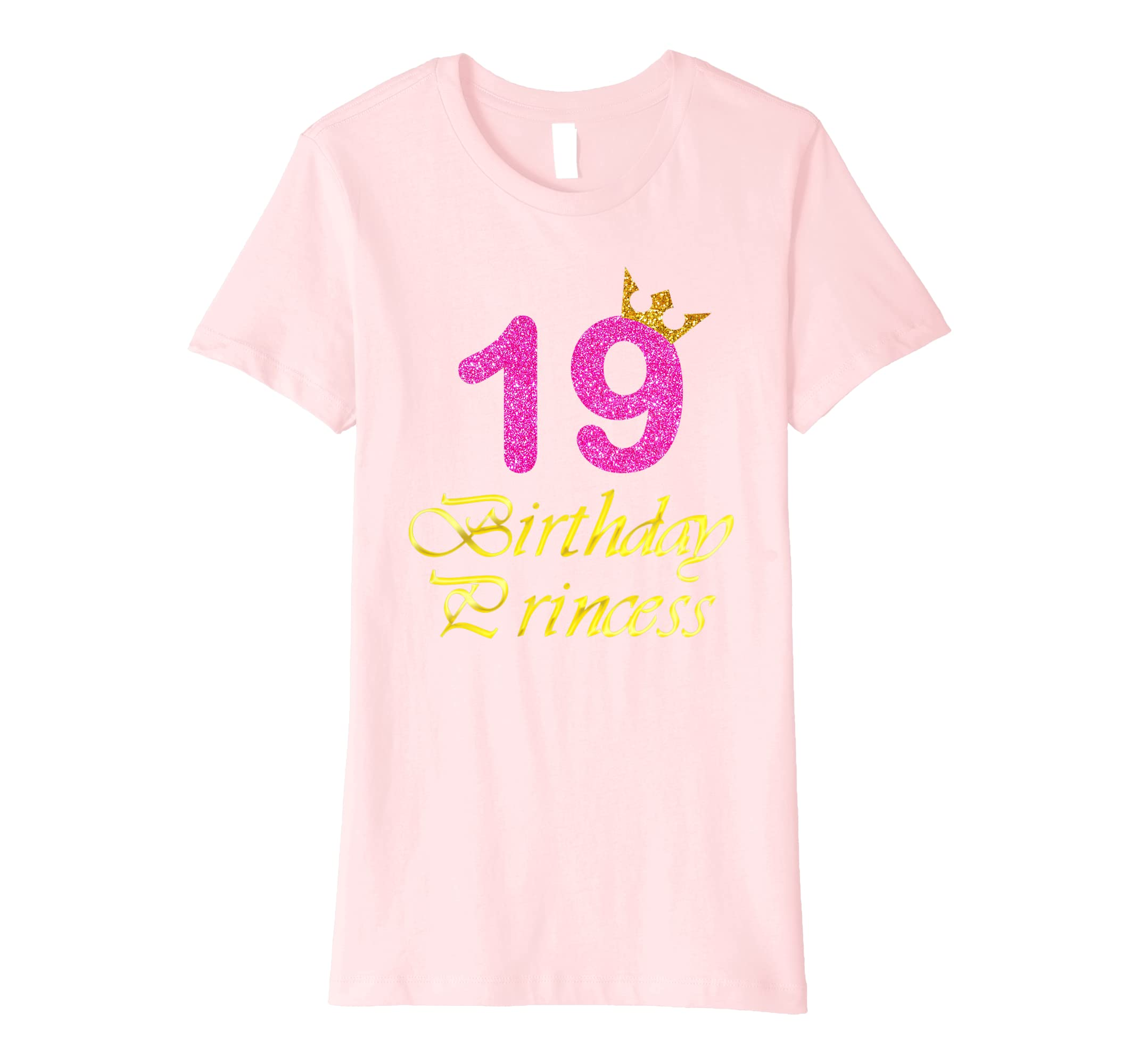 Amazon Gift For 19 Years Old Shirt 19th Golden Birthday Princess Clothing
