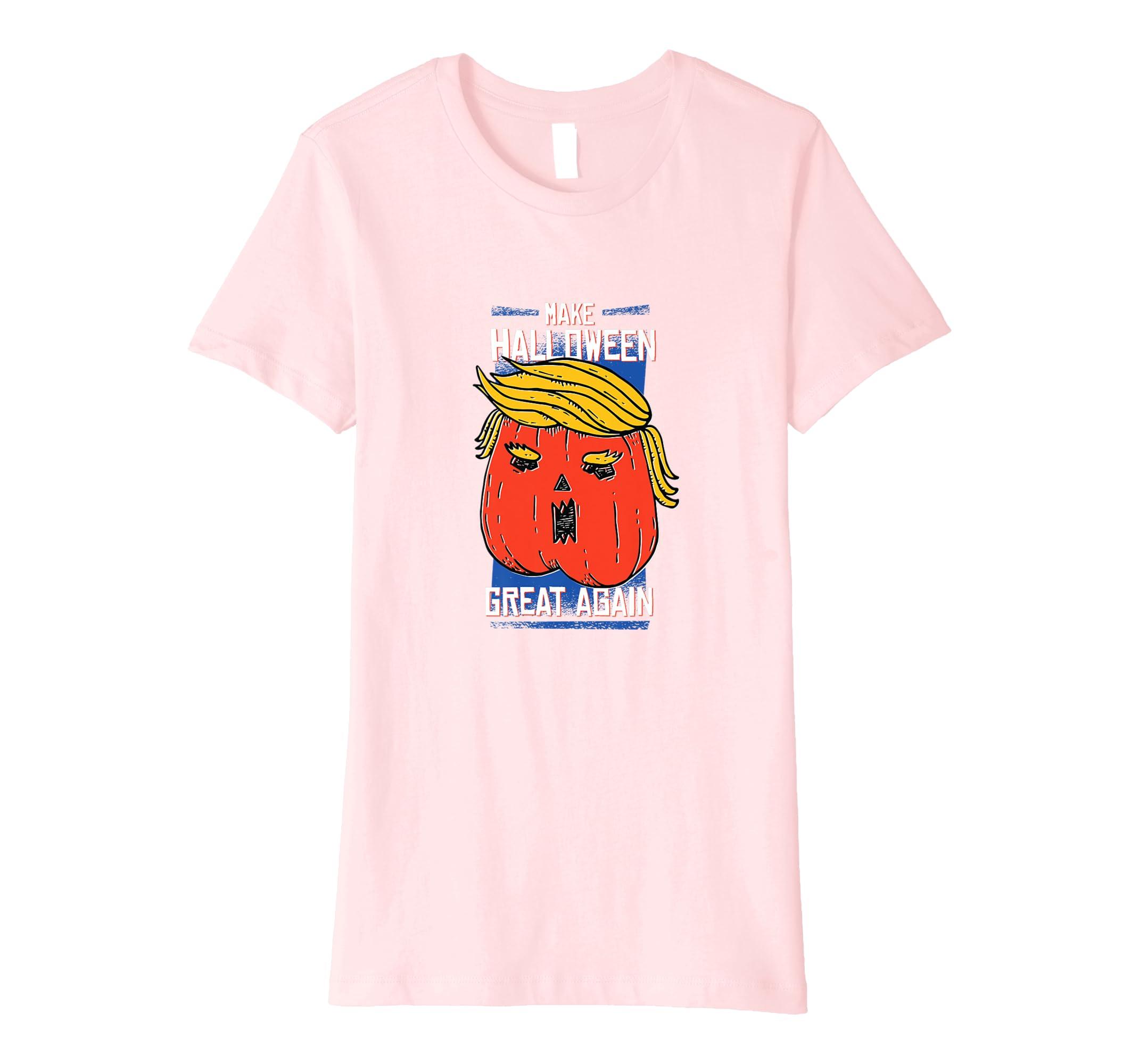 ab5f581520f Amazon.com  Trumpkin Make Halloween Great Again Funny T Shirt  Clothing