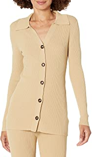 The Drop Women's Constance Rib Button Down Sweater