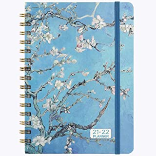 "2021-2022 Planner - Academic Weekly & Monthly Planner 2021-2022, Jul 2021 - Jun 2022 with Flexible Hardcover, 8.46"" x 6.37..."