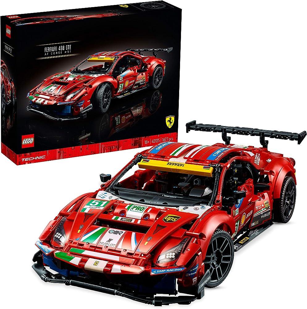 """Lego technic, ferrari 488 gte """"af corse #51"""", modello da collezione esclusivo 42125"""