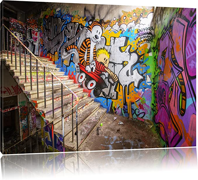 Grunge Graffiti Retro XBOX ONE Gaming SINGLE Leinwand Kunst Bild drucken