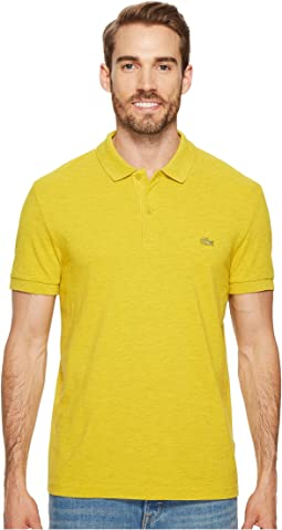 Short Sleeve Slubbed Pique Polo Dyed Used - Regular