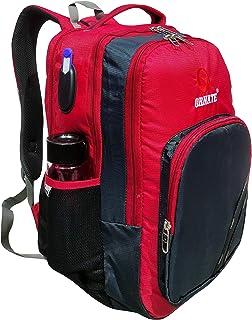 حقيبة ظهر للجنسين مزخرفة (أحمر)