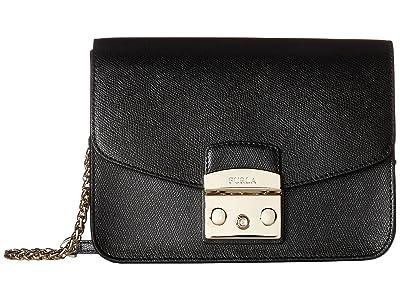 Furla Metropolis Small Crossbody (Onyx) Cross Body Handbags