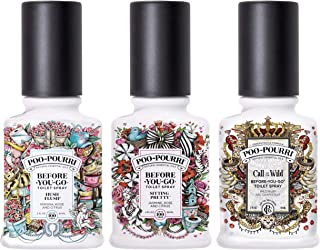 Poo-Pourri Before You Go Toilet Spray Sitting Pretty, Hush Flush and Call of The Wild 2 Ounce Bottles
