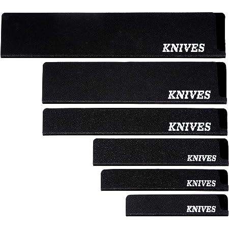 Knives - Juego de 6 protectores universales para cuchillos, cuchillos de pan, jamonero, cuchillo de verduras, cuchillo de cocinero, perfecto como protector de hoja