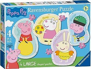 Ravensburger 069569 Puzzle Peppa Pig - 4 Shaped Puzzle, Rompecabezas para Niños y Niñas, Edad Recomandada 3+