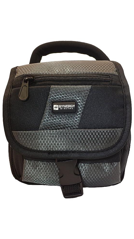 Nikon Coolpix L820 Digital Camera Case Camcorder and Digital Camera Case - Carry Handle & Adjustable Shoulder Strap - Black / Grey - Replacement by Synergy bnsrspman2296